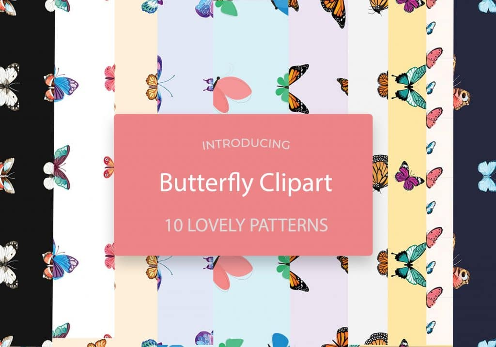 Butterfly Clipart: 10 Lovely Patterns