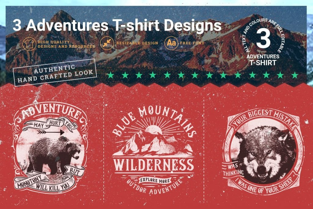 Adventure t-shirts design.