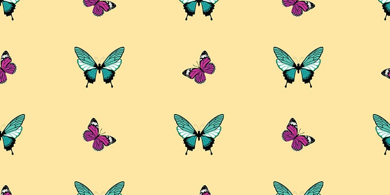 Butterfly Clipart: 10 Lovely Patterns - $10 - butterfly clipart9