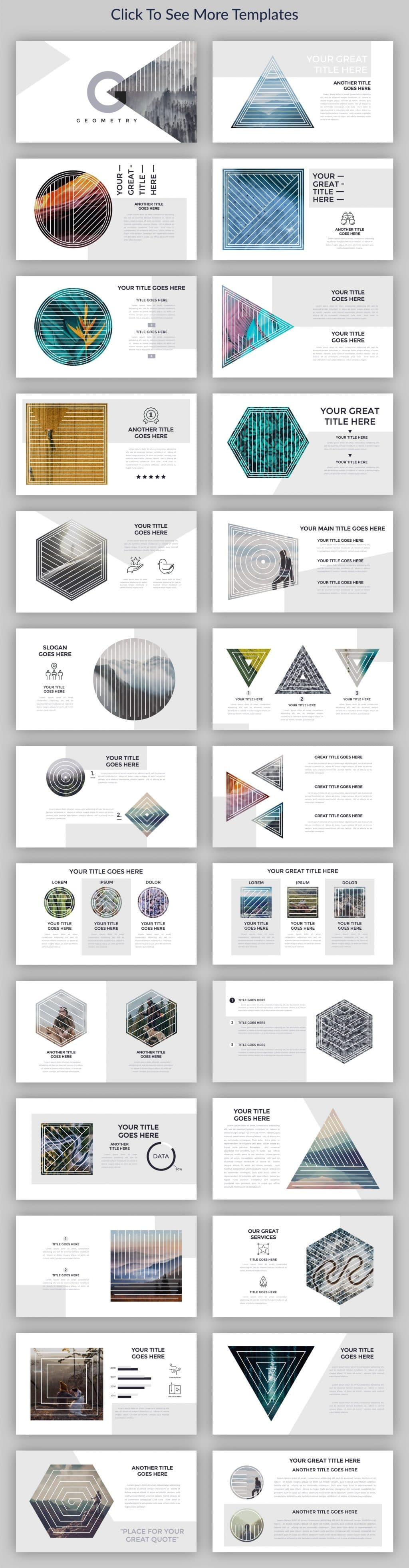 Minimal Geometry Powerpoint Template - $12 - cm preview1