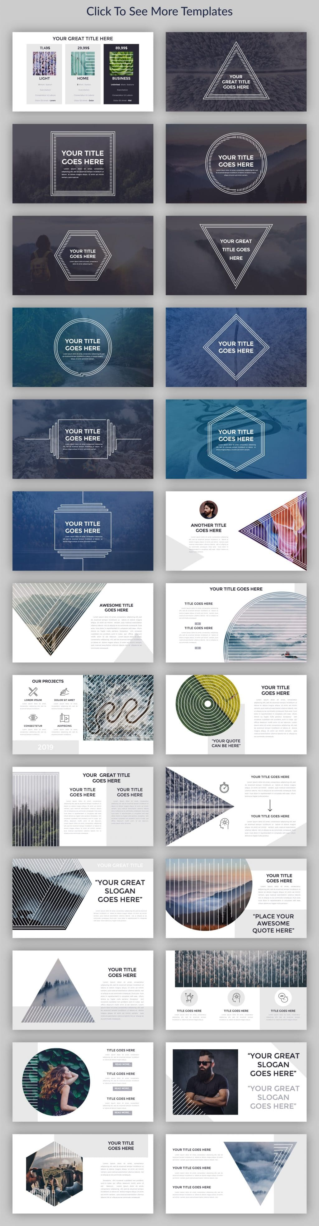 Minimal Geometry Powerpoint Template - $12 - cm preview2 2