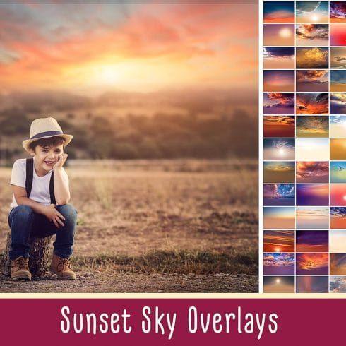 Sunset Backdrops: High Resolution, 300 DPI