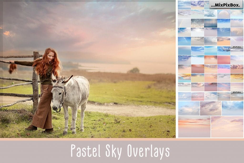 60 Pastel Sky Overlays - $8 - cover