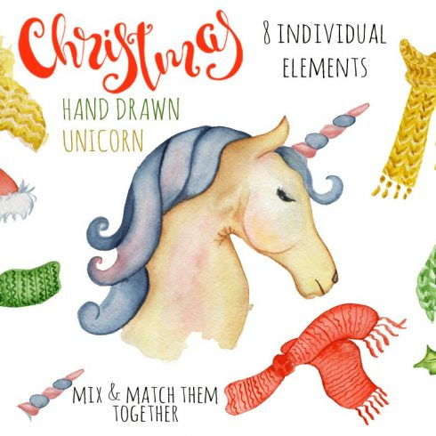 Unicorn Vectors: Patterns, Characters and Items - $18 - cover 2  490x490