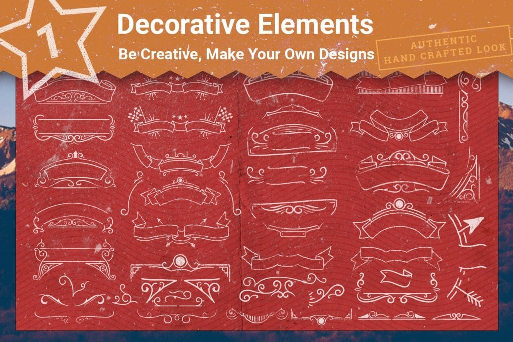 Decorative elements for t-shirts.