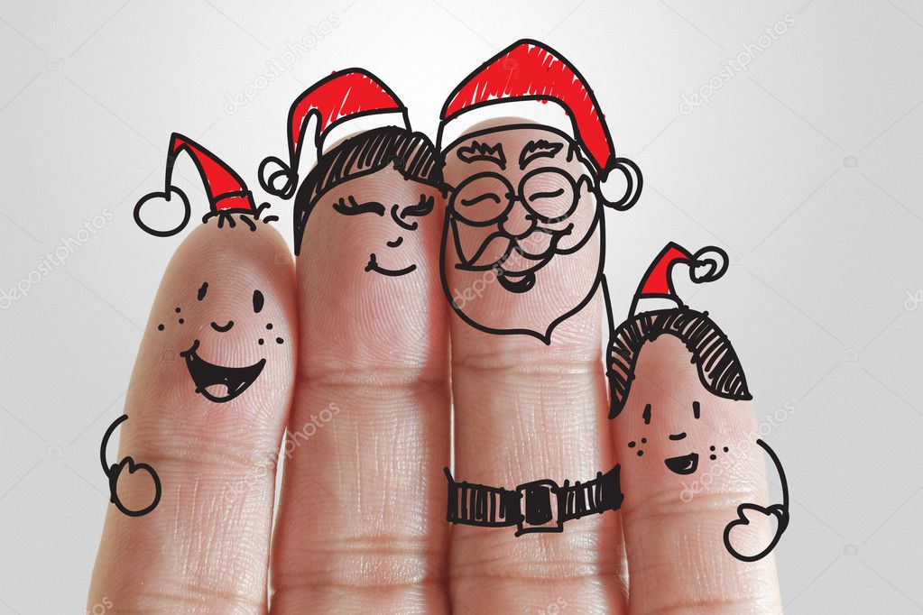 Christmas Stock Photos & Images. Photo Deal: 100 Royalty-free Photos & Vectors - $69! - depositphotos 13124205 stock photo fingers family and christmas