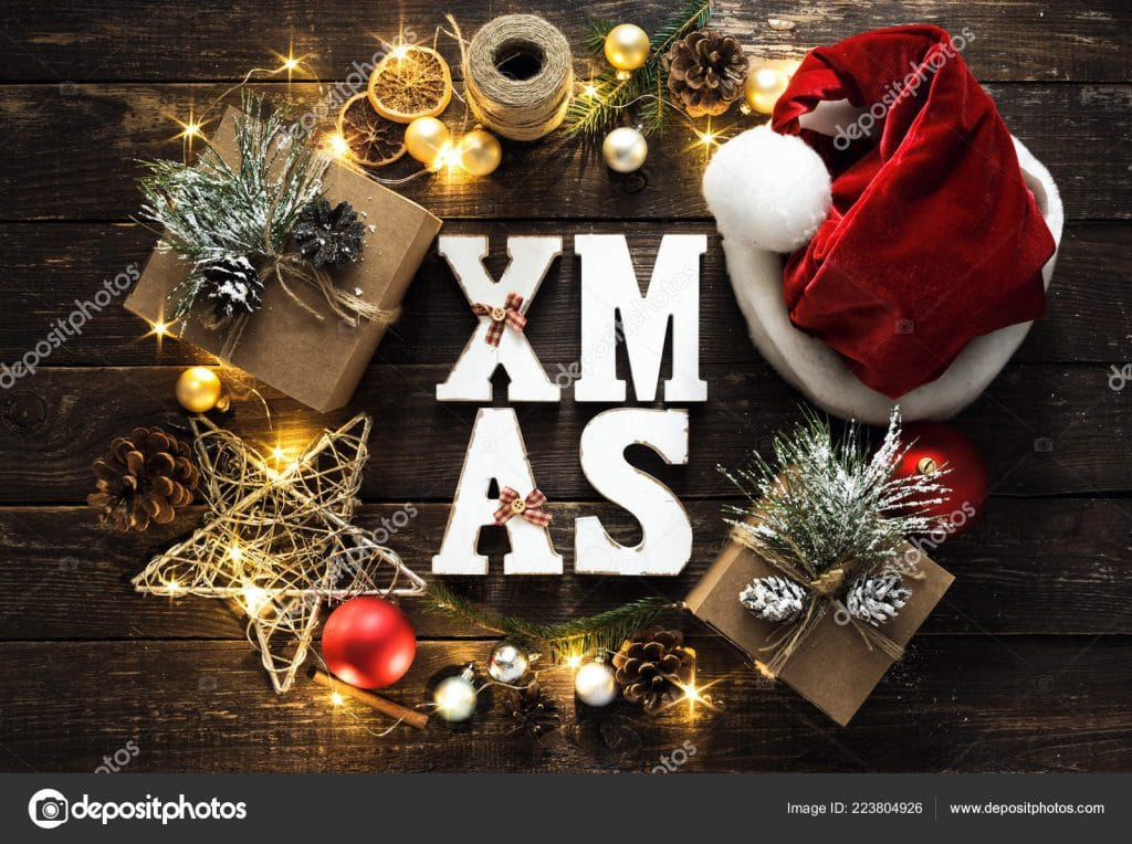 Christmas Stock Photos & Images. Photo Deal: 100 Royalty-free Photos & Vectors - $69! - depositphotos 223804926 stock photo christmas background word xmas wreath