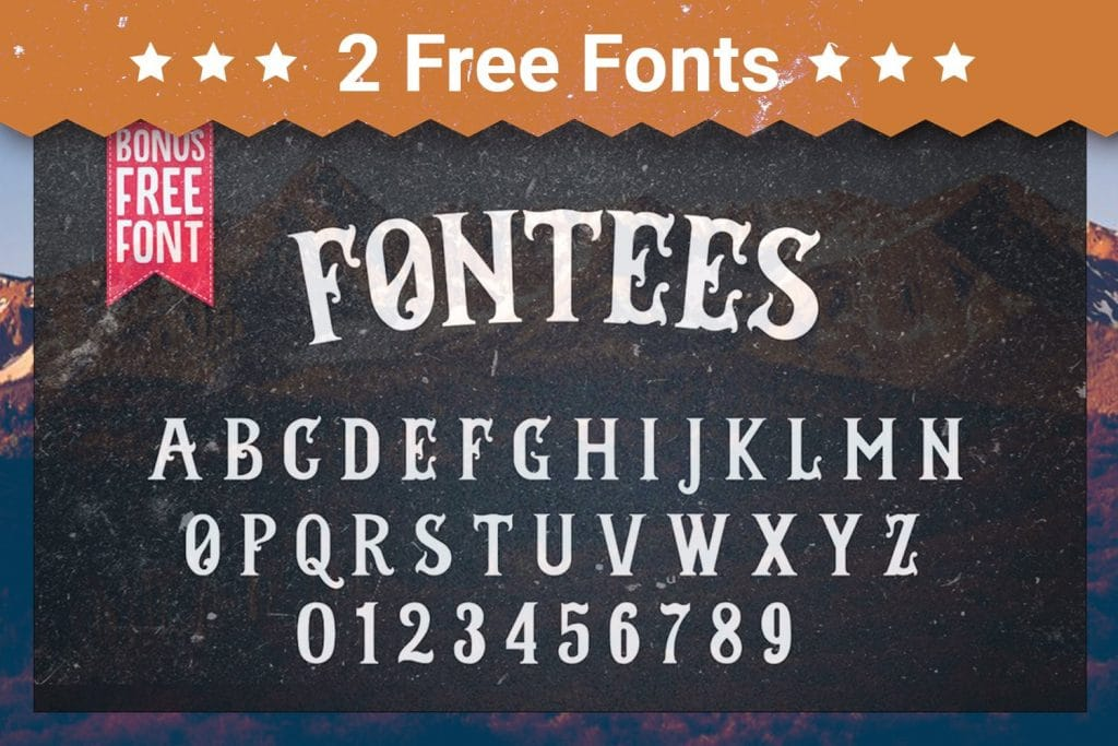 Two types free fonts.