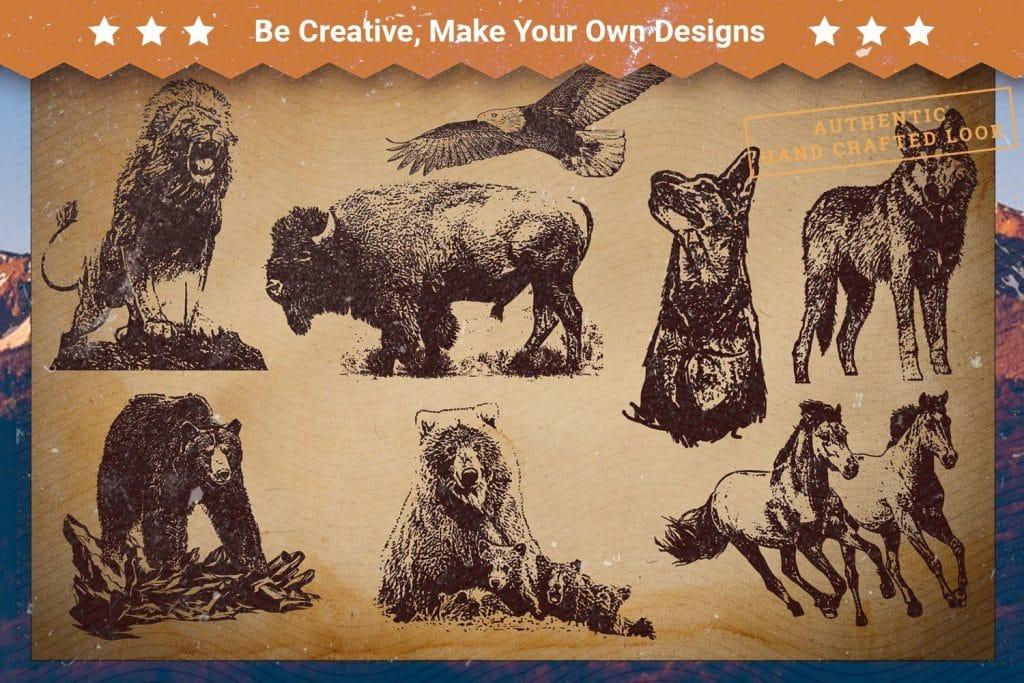 T-shirts with wild animals.