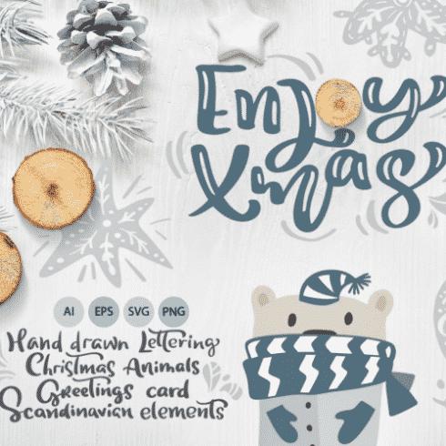 45 Merry Christmas Lettering And Elements Best Scandinavian Xmas Bundle In 2020 Masterbundles