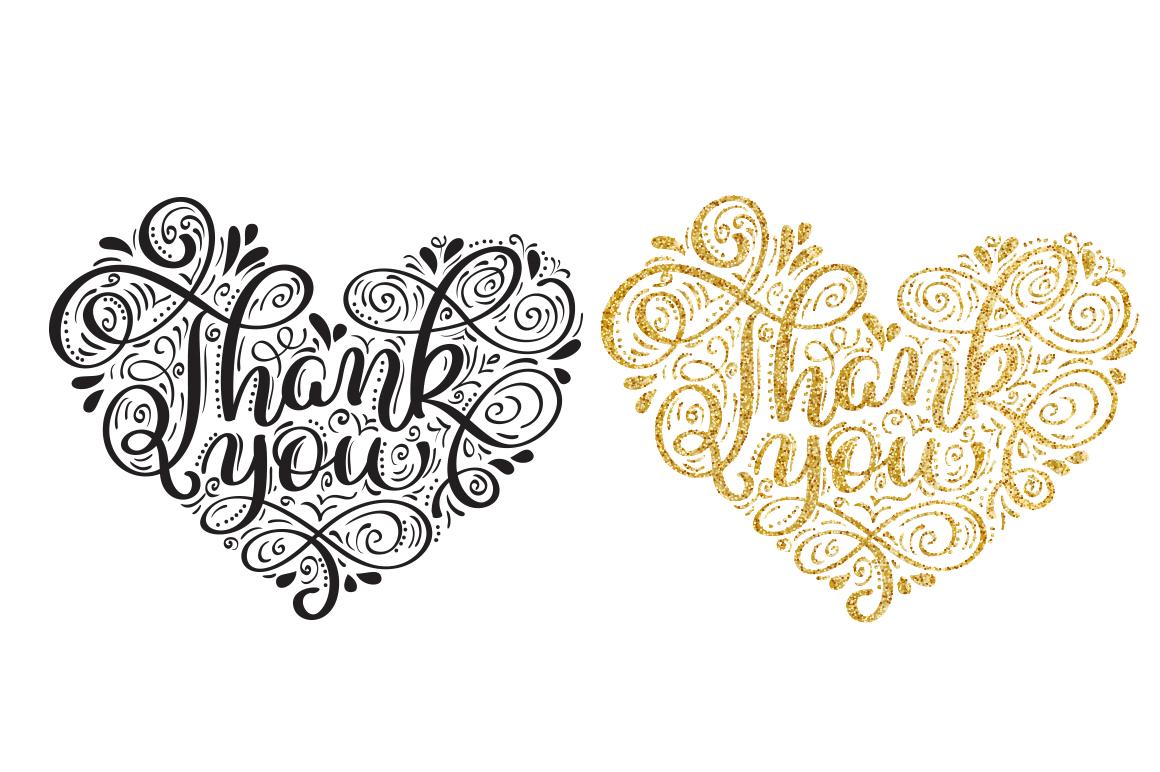Vintage Calligraphy Phrase Thank You