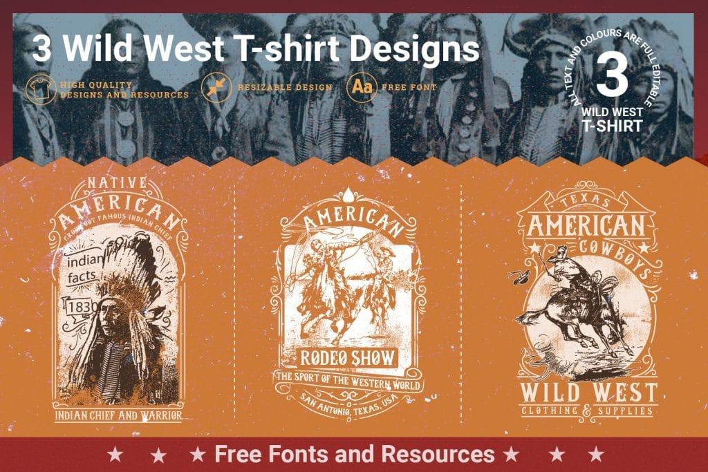 Wild west t-shirt designs.