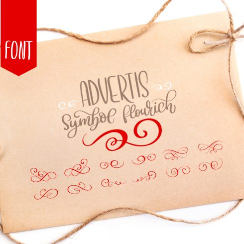 Christmas Advertis Ornament Font - $13 - 01 title 1 490x490