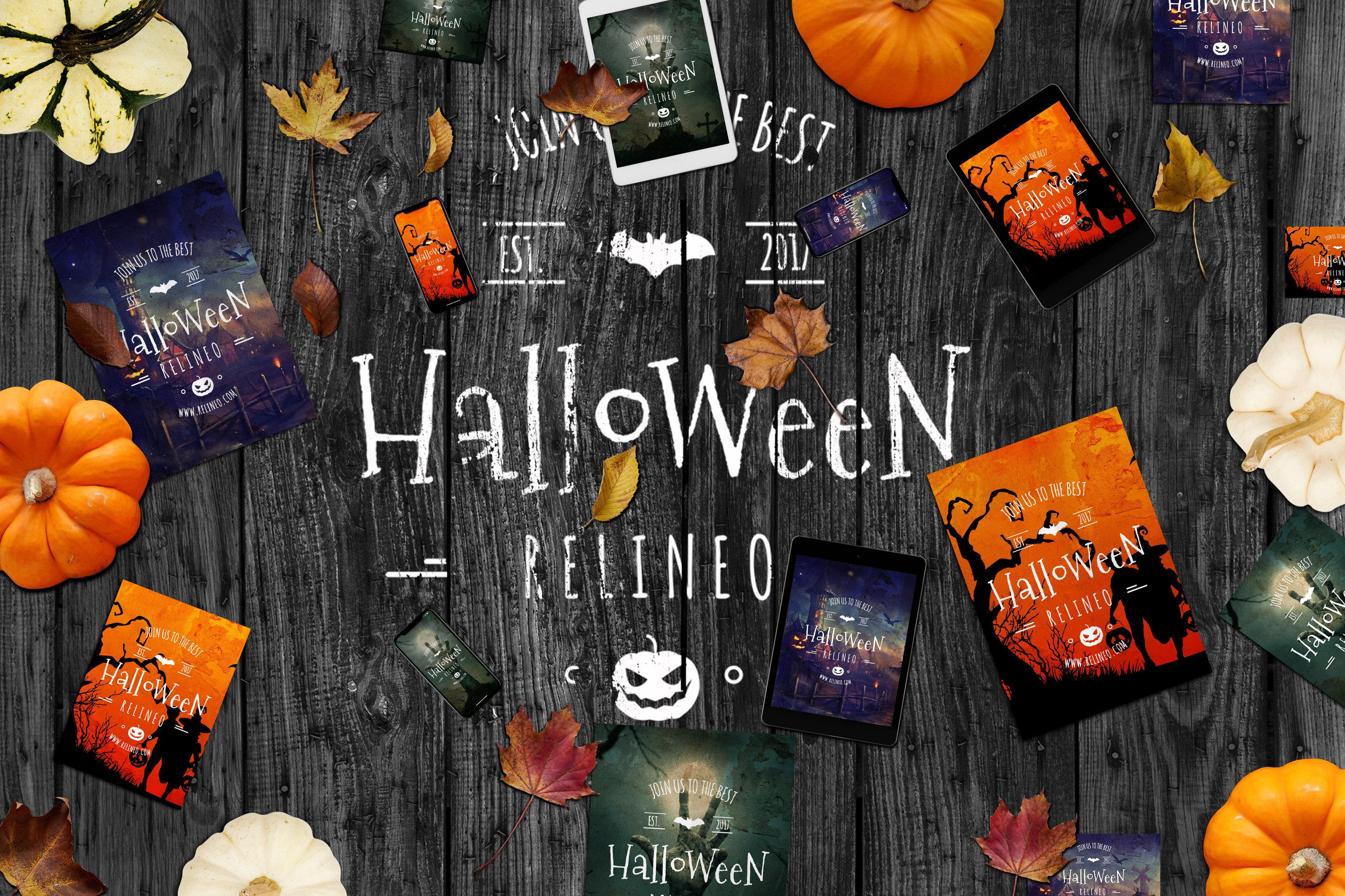 Halloween Graphics and Mockups - $10 - 1162 preview