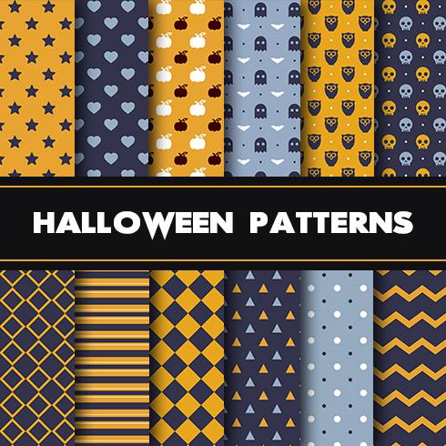 12 Scary Halloween Patterns - $5 - 490х490