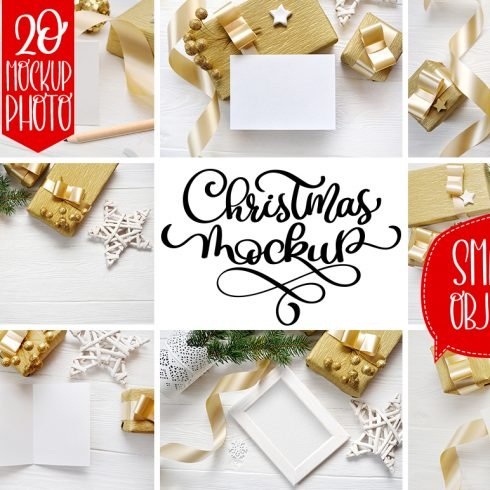 35 Christmas Background Mock Ups with smart object - $16 - 600 10 490x490