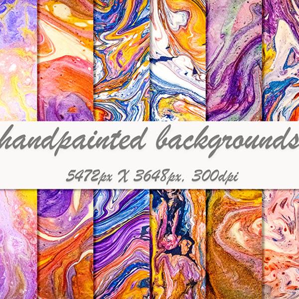 Best Liquid Paint Backgrounds main cover.