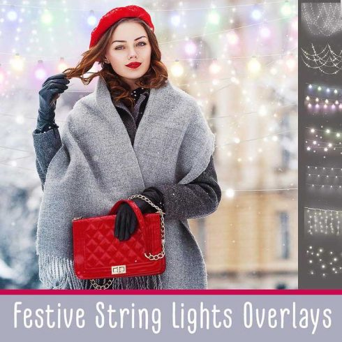 Festive Lights: 40 String Lights Photo Overlays - $8 - 600 15 490x490
