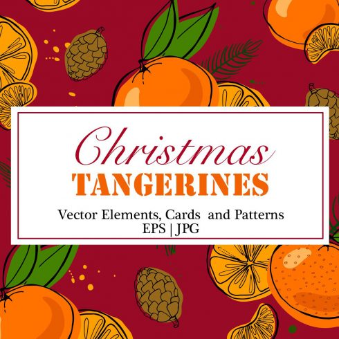 Christmas Clipart: Tangerines Vectors - $16 - 600 2 490x490
