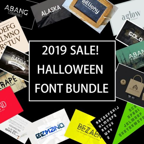 Best Halloween FONTS Bundle - $29. 2020 SALE! - 607 490x490
