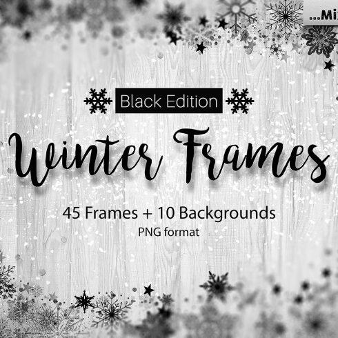 Christmas Frames: Snowflake Clipart Bundle - $9 - 611 490x490