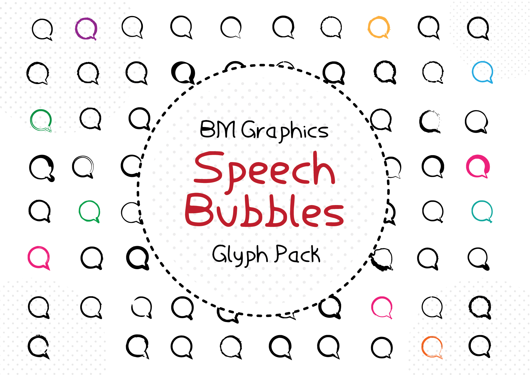 Speech Bubbles Font