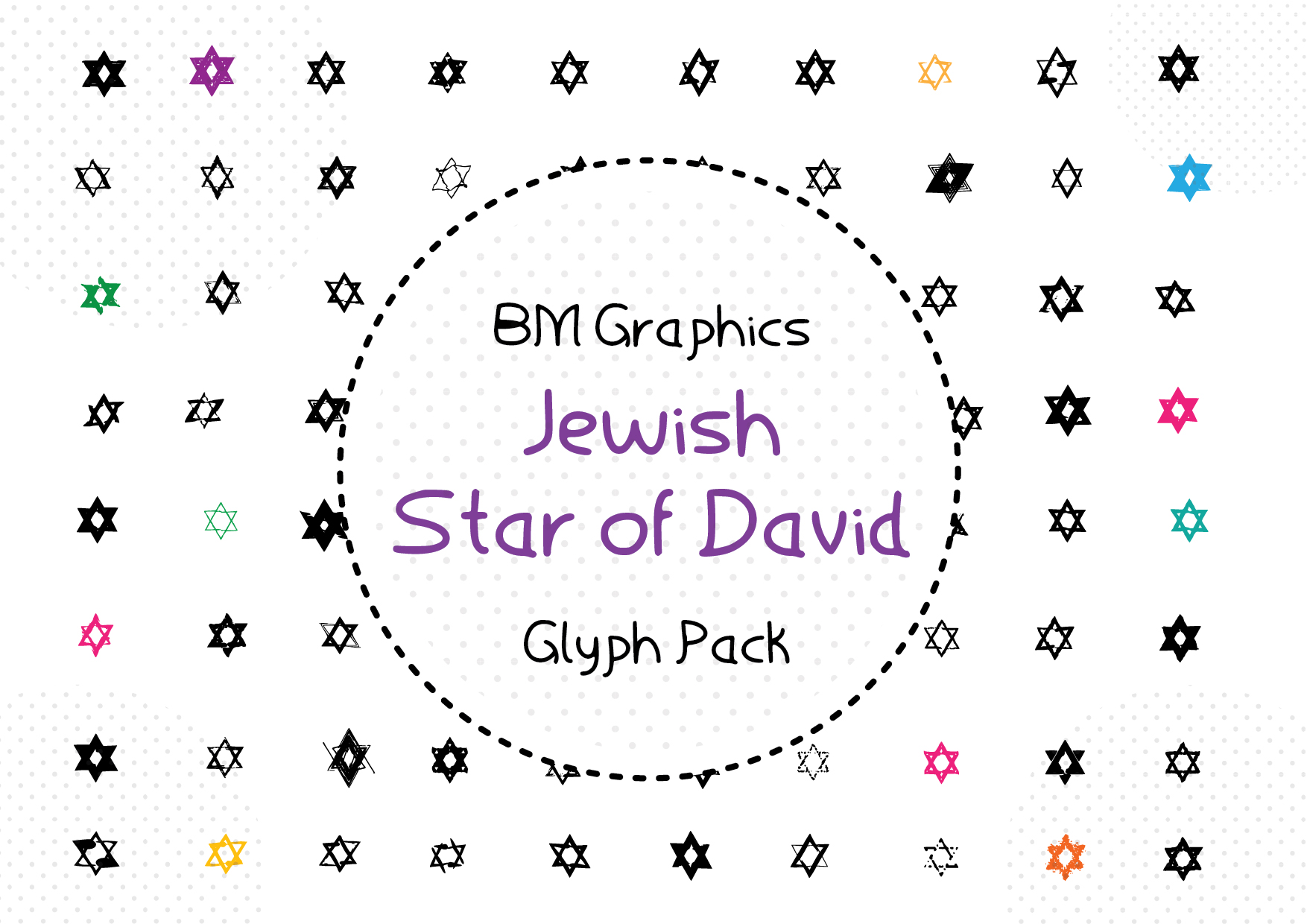 Jewish Star of David Font