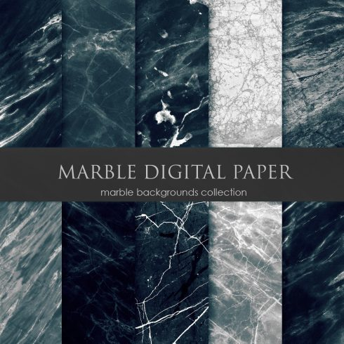 Marble Pattern: Collection of Digital Paper - $4 - Marble Digital Paper 490x490