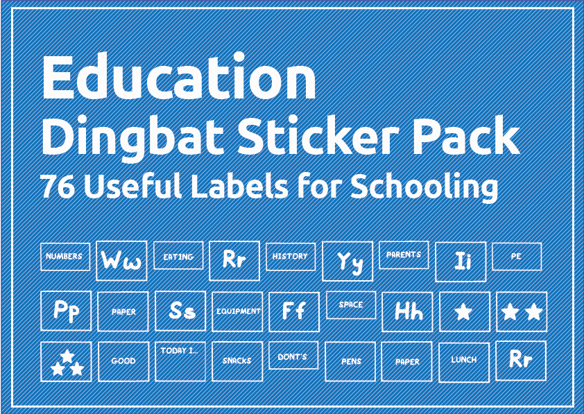 33 Useful Arts Crafts Dingbat Shape Pack - $29 - School Educational stickers 04