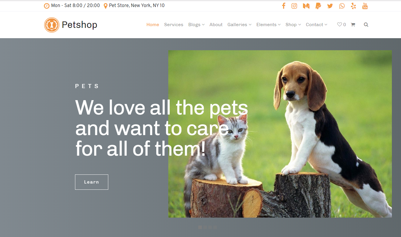Petshop WordPress Theme + Free Hosting - Screenshot 33