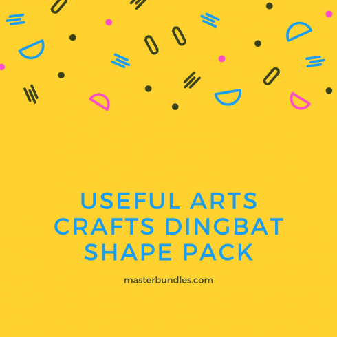 Author - Useful Arts Crafts Dingbat Shape Pack 490x490