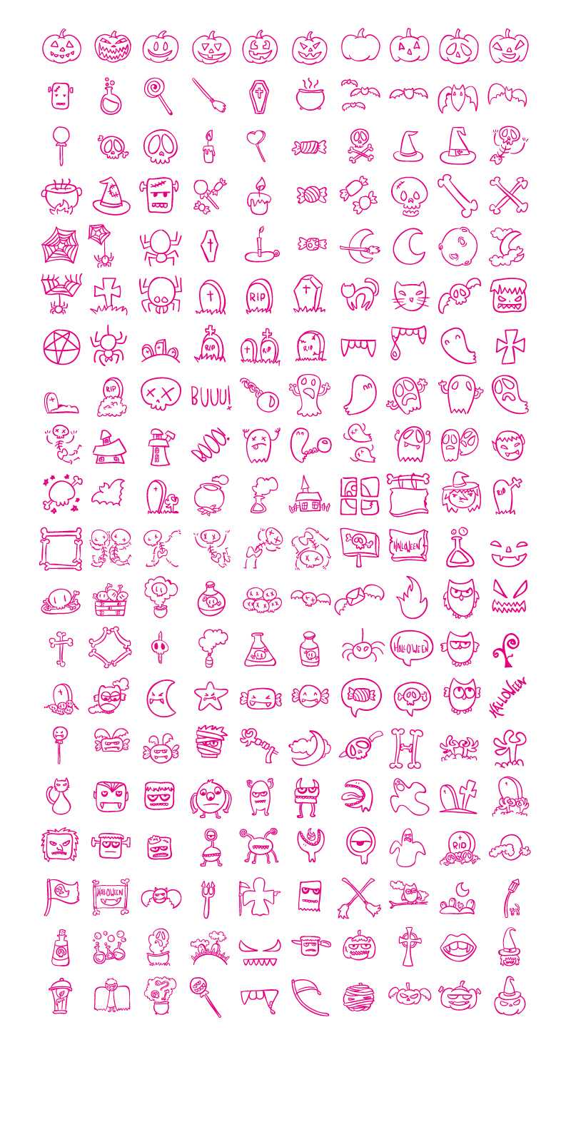 200 Free Halloween Icons PNG & SVG - boceto halloween 01