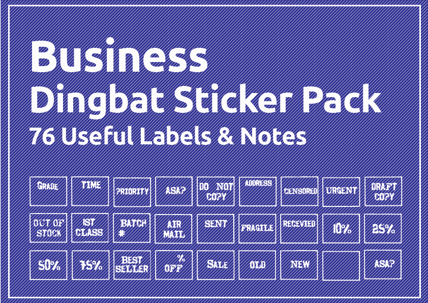 33 Useful Arts Crafts Dingbat Shape Pack - $29 - business stickers 01