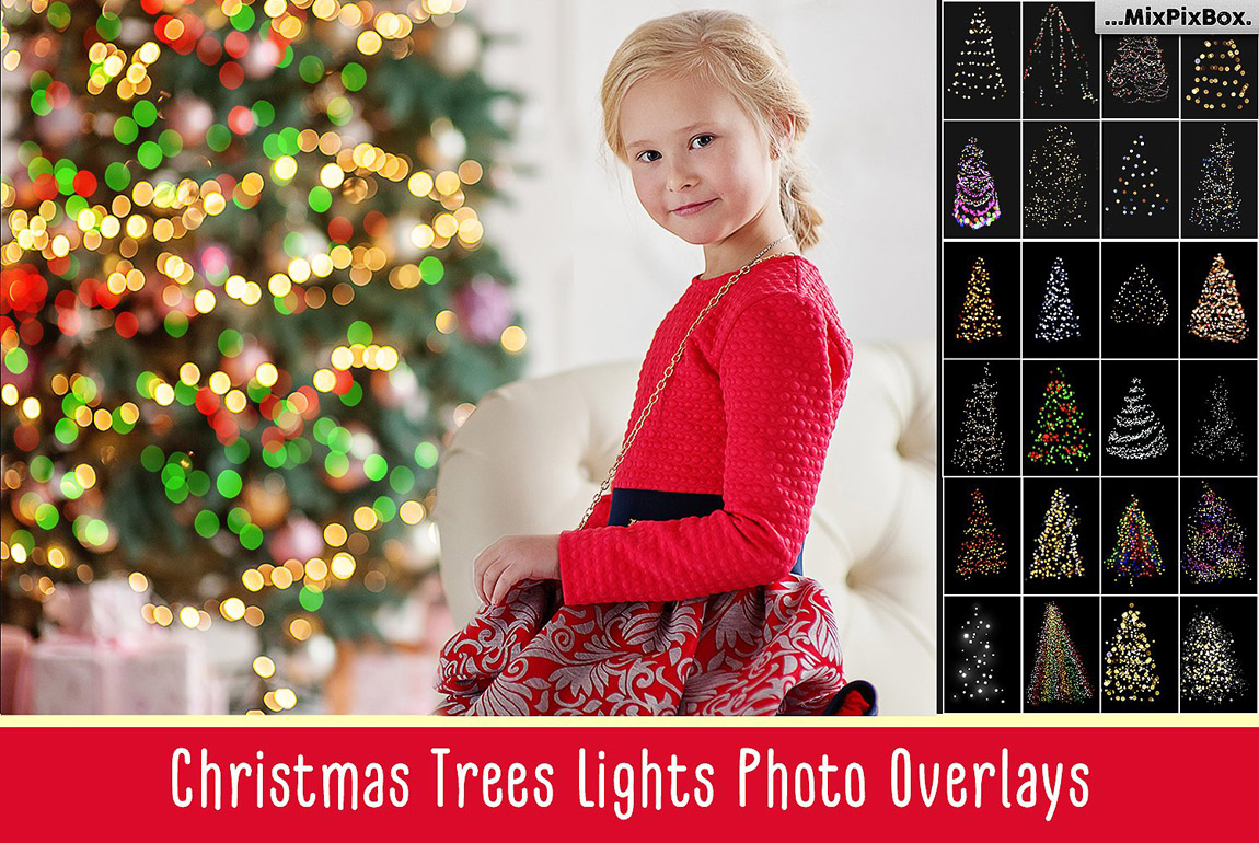 Christmas Trees Lights Overlays
