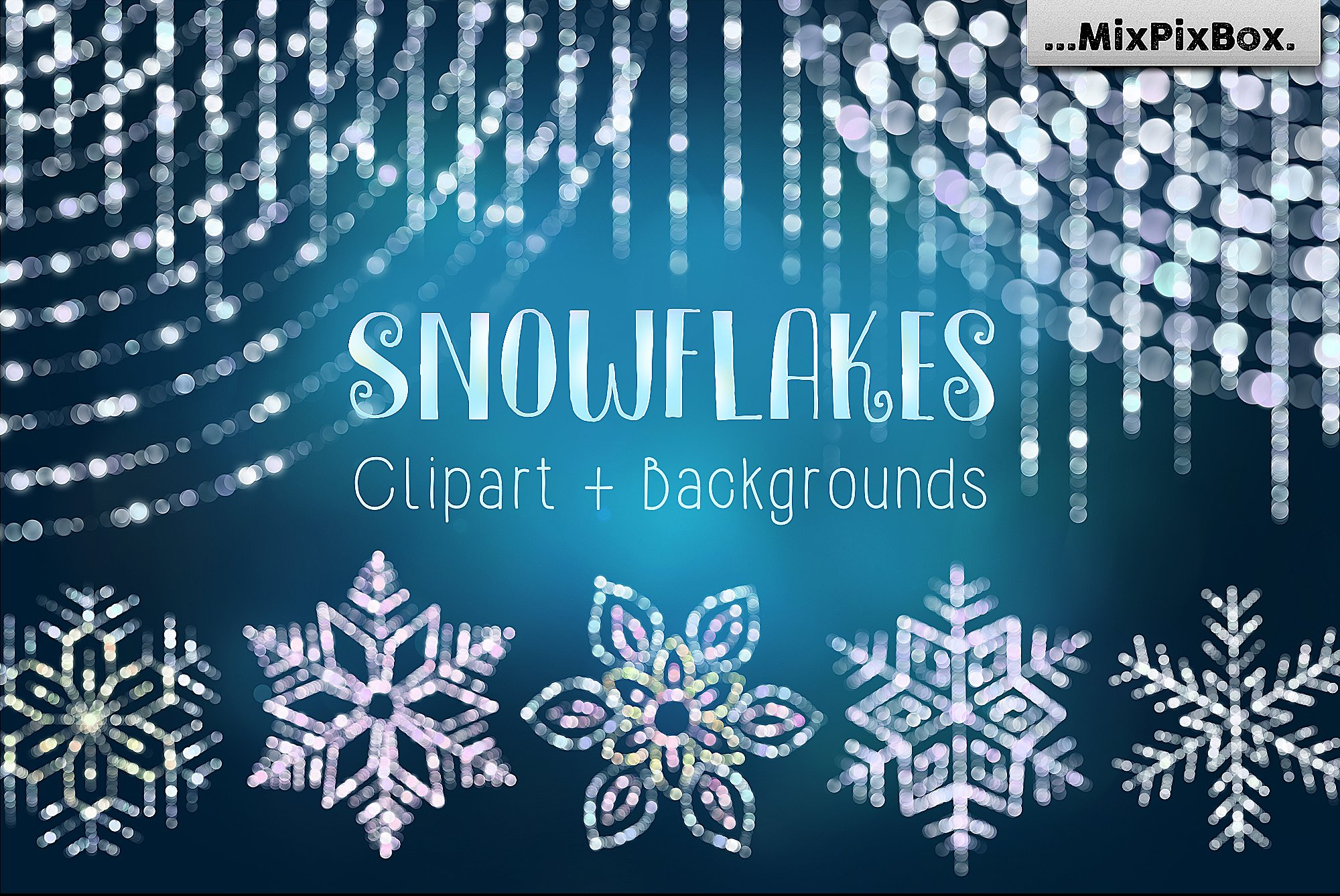 Snowflakes Clipart & Backgrounds