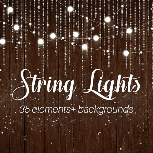 36 String Lights PNG, JPG Images & Backgrounds - $10 - cover 7 490x490
