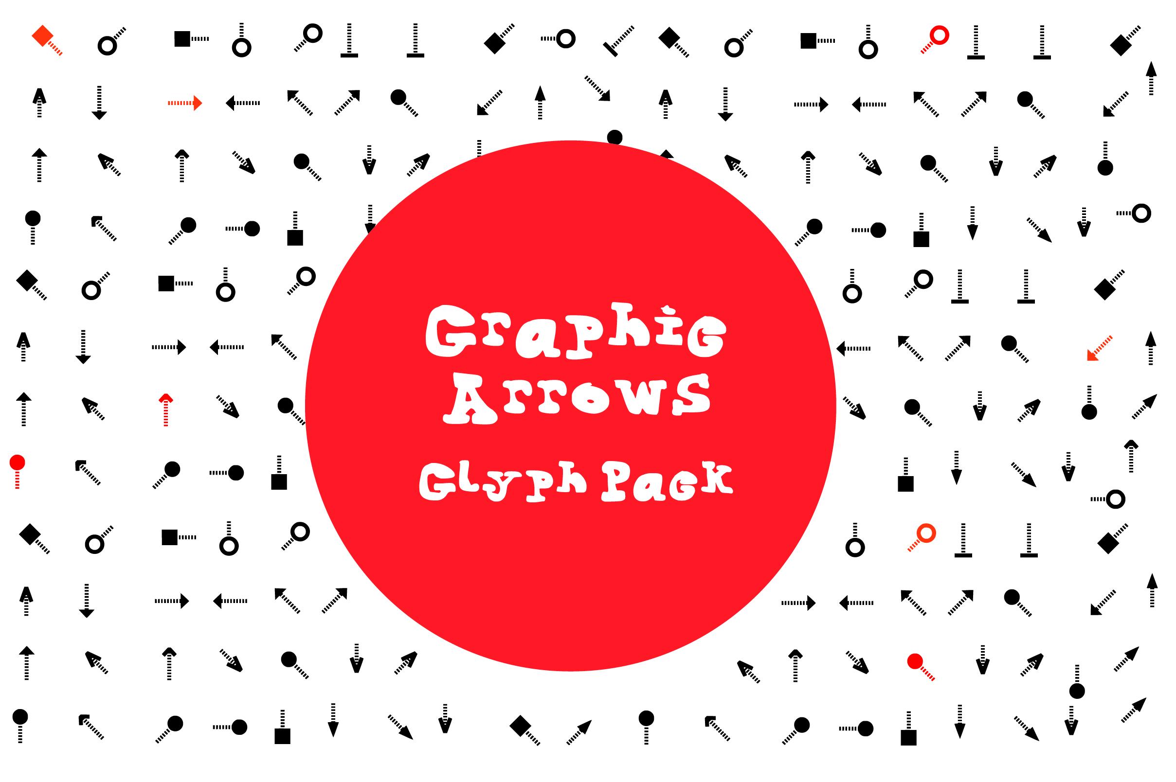 Graphic Arrows Glyph Font
