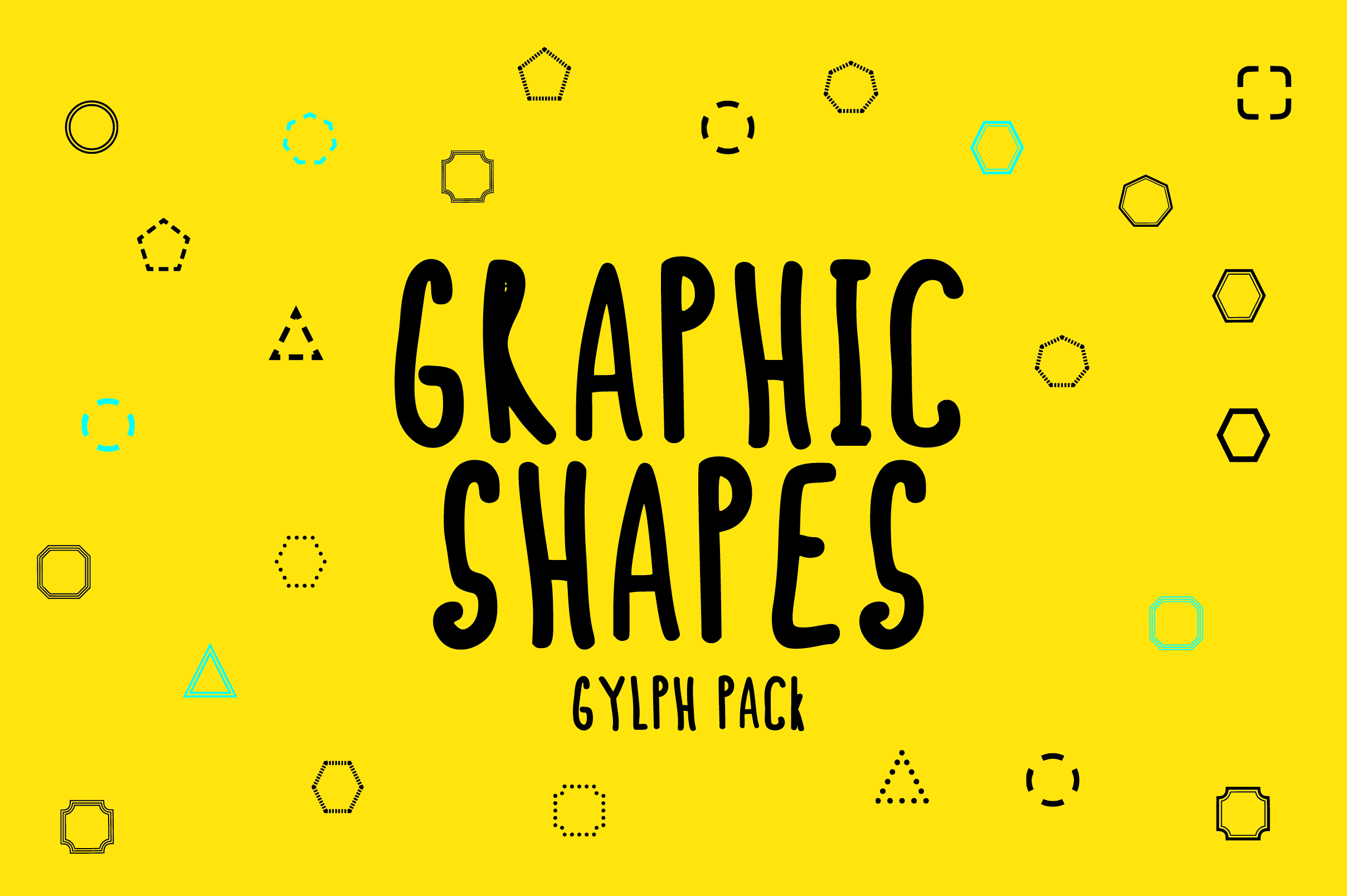 Graphic Shapes Glyph Font