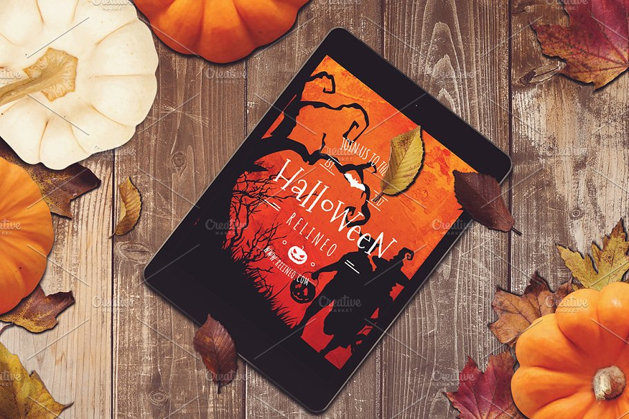 Halloween Scene and Mockup Creator