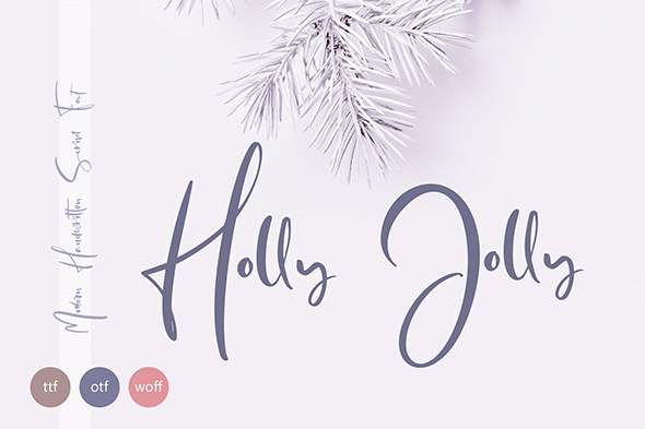 Holly Jolly Hand Drawn Font - $18 - title01 envato 590
