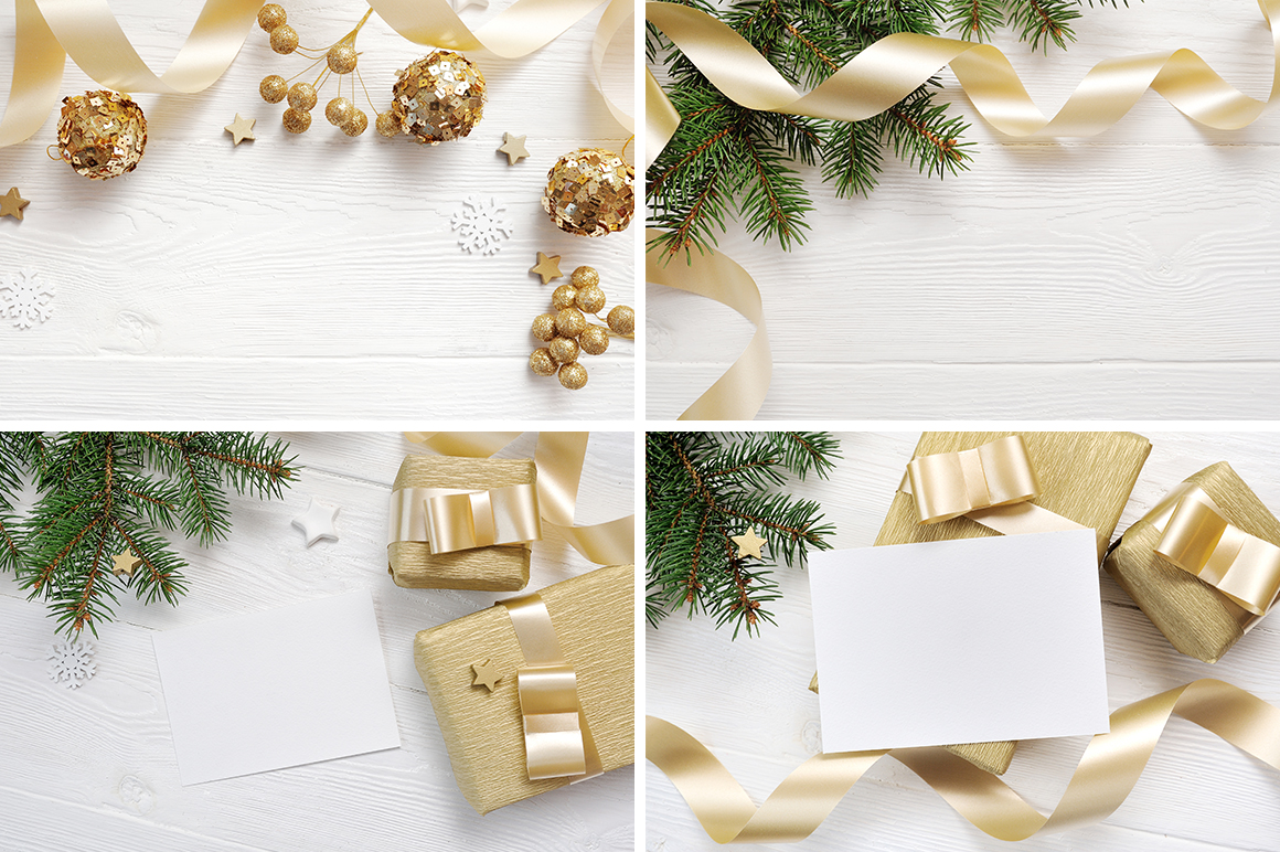 35 Christmas Background Mock Ups with smart object - $16 - title 04