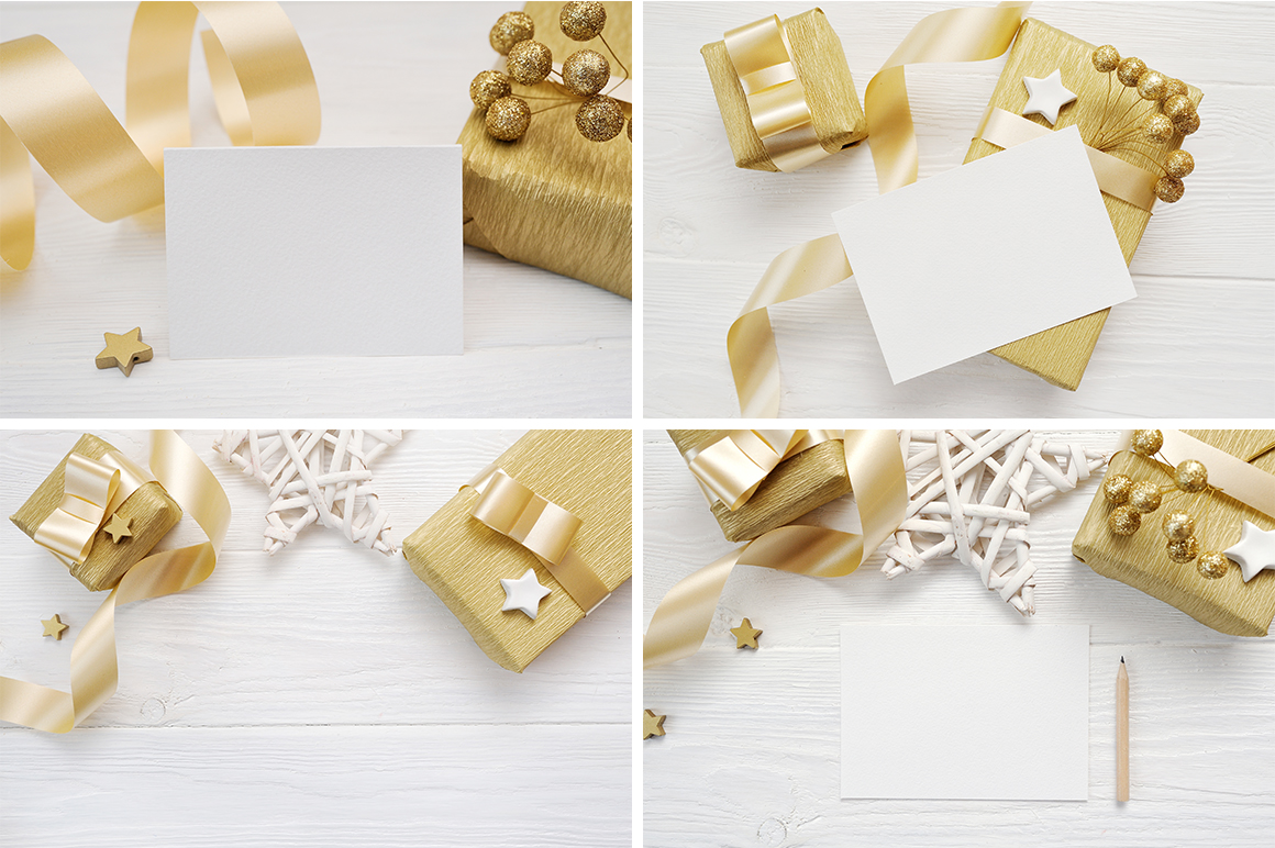 35 Christmas Background Mock Ups with smart object - $16 - title 06
