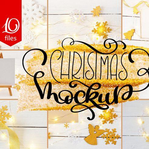 Christmas MockUp Photos Collection - $13 - title 1 1 490x490