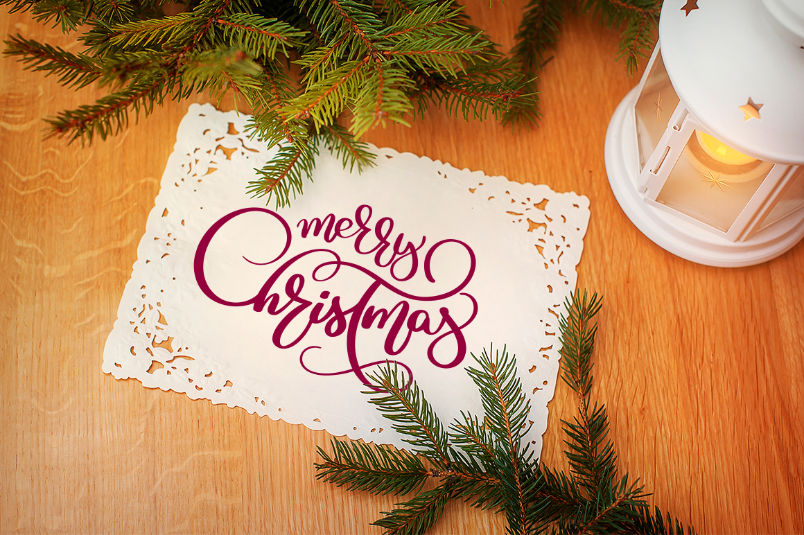 Merry White Christmas Quotes Images and Objects Calligraphy Collection - $3 - title 3 2