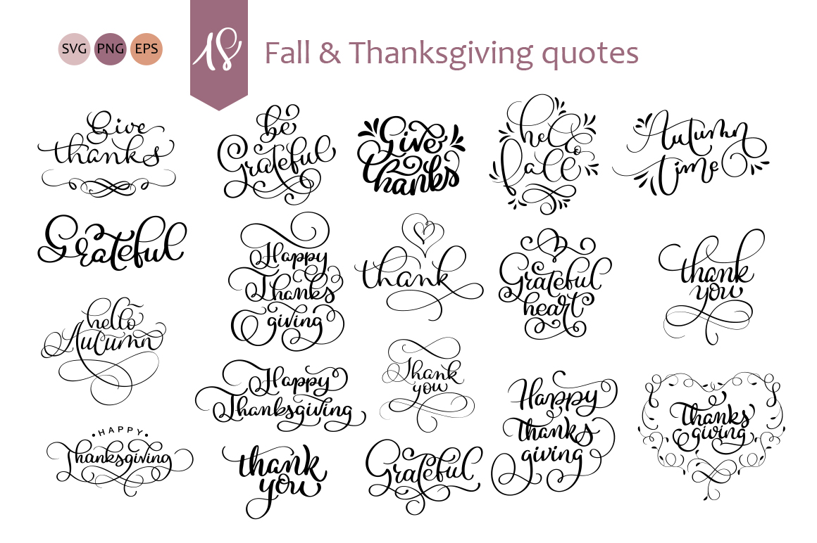 Calligraphy for Thanksgiving Day