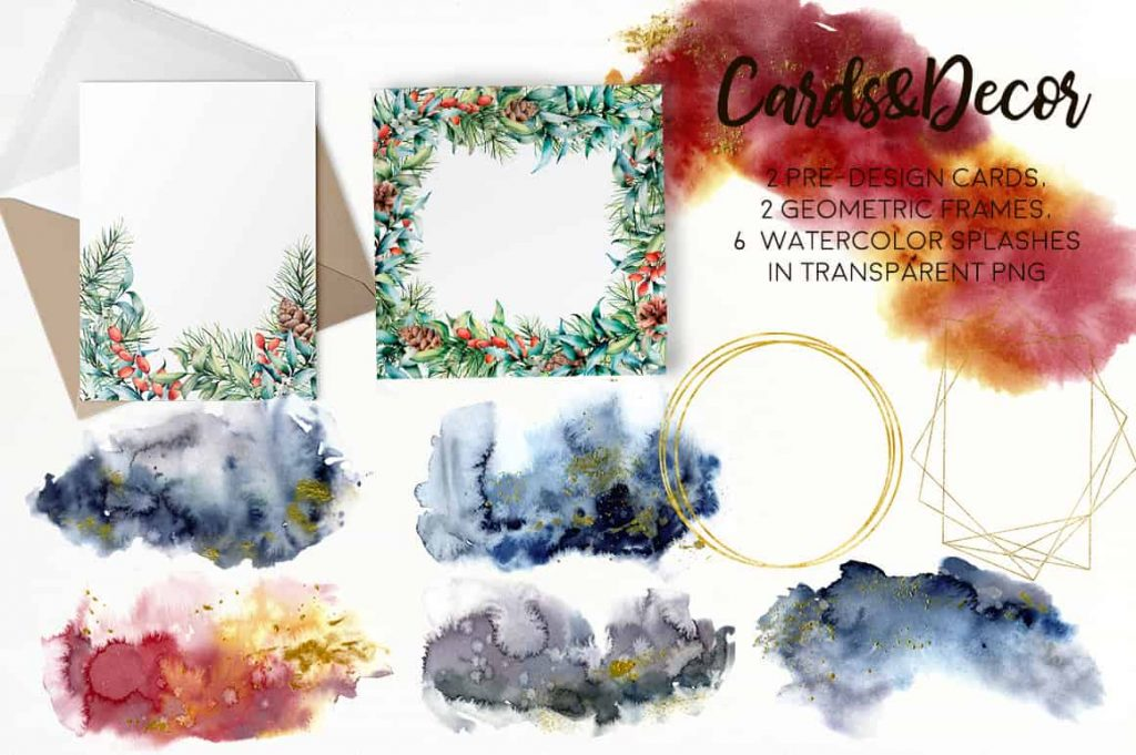 Christmas Traditions Watercolor Set - $16 - 08 min