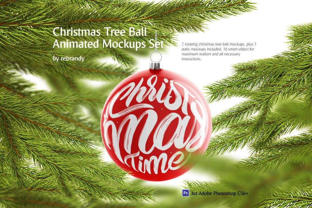 Christmas Ball Animated Mockups Set - $12 - 1 10
