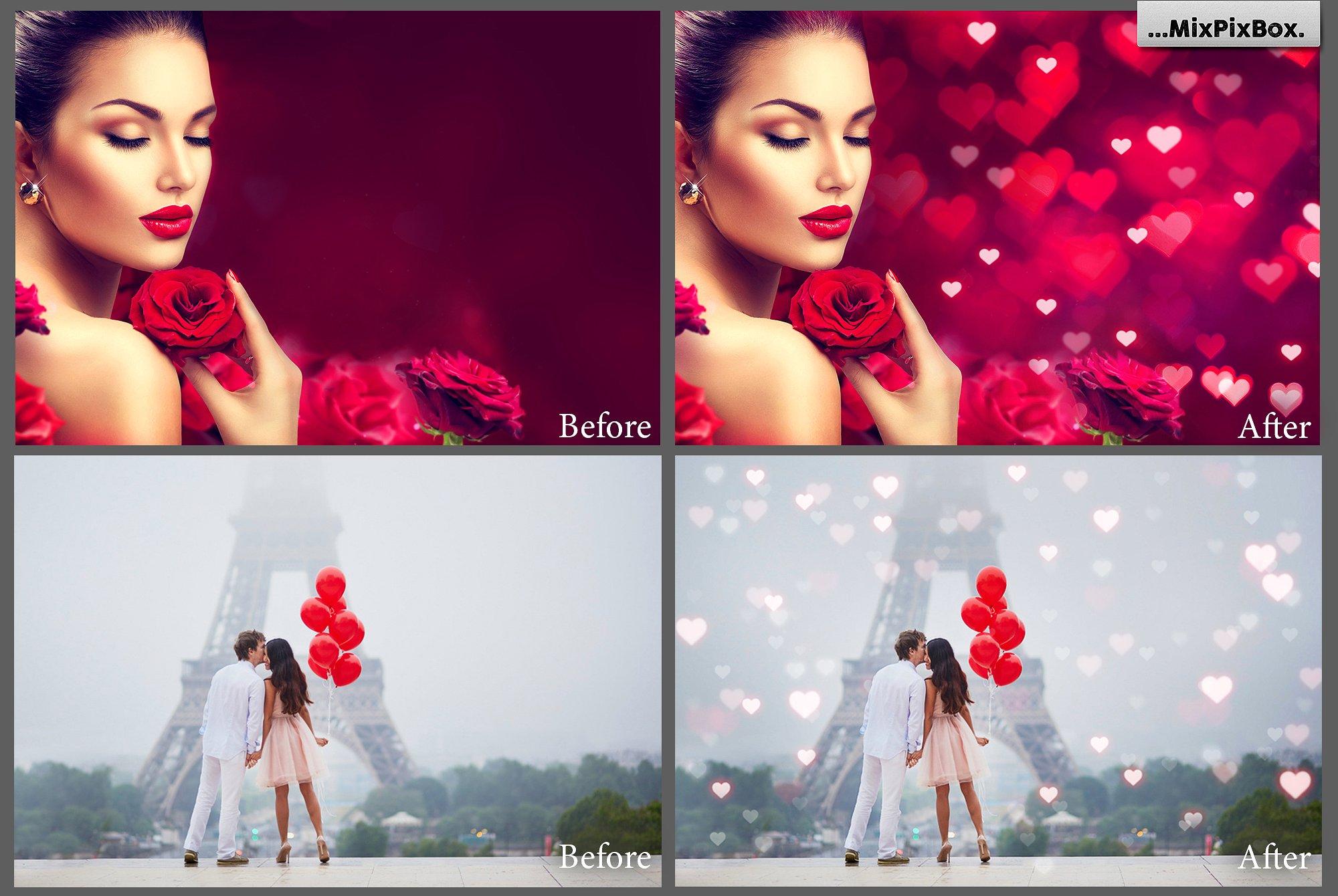 79 Romantic Bokeh Photo Overlays - 1 4