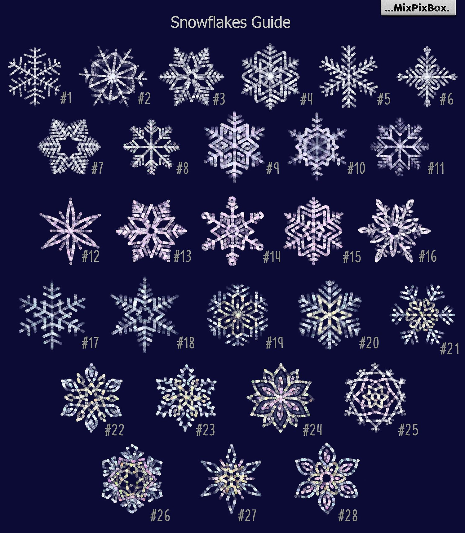 28 Snowflakes Photo Overlays - $8 - 1 9