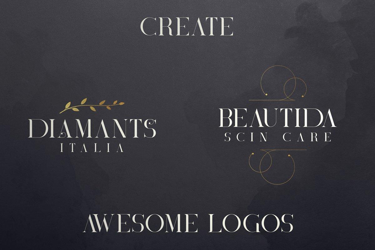 Black Gold Bundle: Serif Font, Elements, Ornaments, Photoshop Styles - $19 - 10 1 1